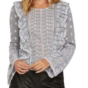 Willow&Clay + Barefoot Blonde Eyelet Ruffle Blouse